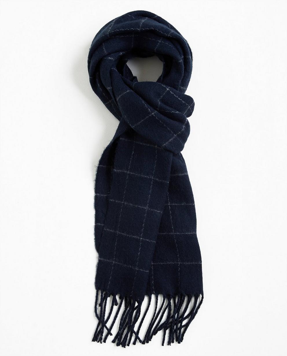 Écharpe à carreaux - bleu nuit - Iveo